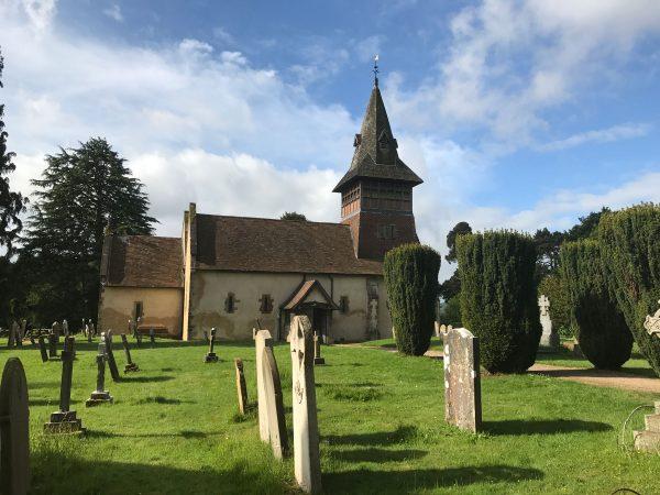 All Saints' church. Steep